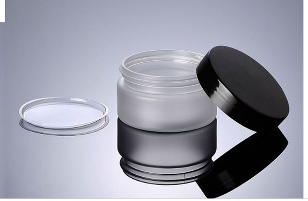 100pcs 100g frosted PET jar with black glossy cover, 100ml mask jar, cream bottle, cosmetic bottle