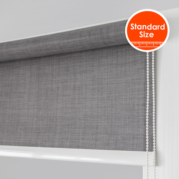 big contract system sunscreen soil linen texture roller blinds 38mm stronger tube for big windows standard size