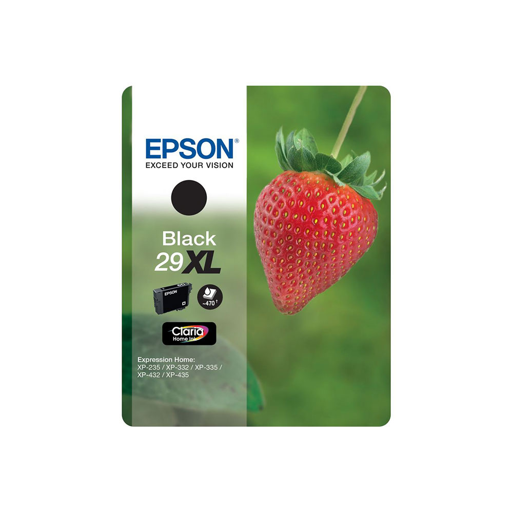 Epson Original Claria 29XL T2991 Strawberry Ink Cartridge 11.3ml Black