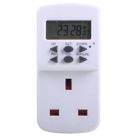 TE7 7 Day Electronic Mains Timer - White