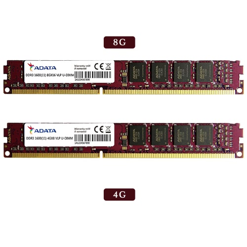 ADATA 8G Premier DDR3 1600MHz Memory Module Ram 240 Pin Unbuffered DIMM PC3 12800 1.5V for Desktop