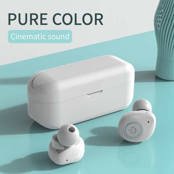 Bluetooth earphones in pure color, cinema level 6D surround sound, One ear/two ear mode, TWS02
