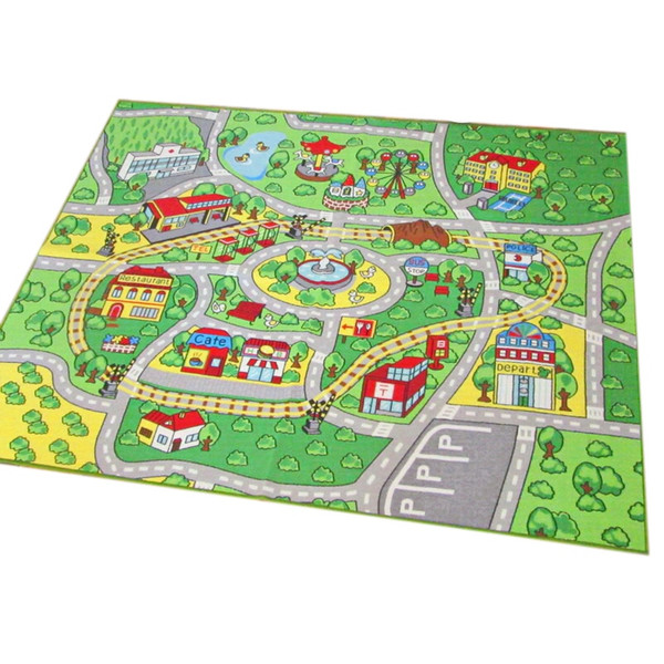 Large Children'S Game Mats For Toy Cars, Safes And Fun Children'S Learning Carpets With Non-Slip Back, Play Mats For