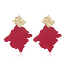 Women's Drop Earrings Earrings Geometrical Simple Trendy Fashion Earrings Jewelry Red For Prom Date Vacation 1 Pair
