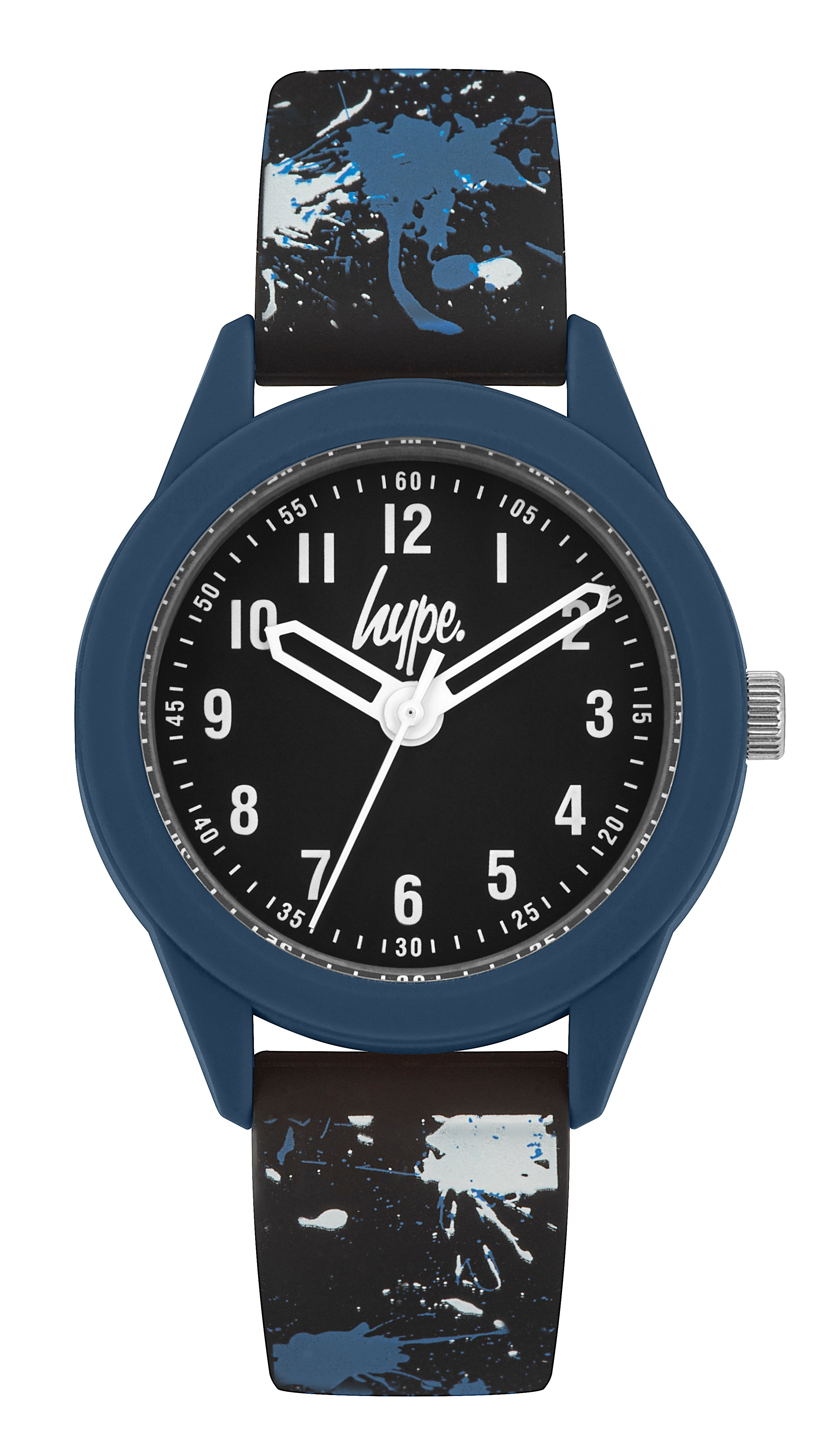 Hype Black Splatter Kids Watch