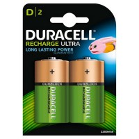 HR20B2 2200mAh 2x Rechargeable D Batteries
