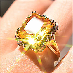 Women Ring Classic Gold Gold Plated Antique Luxury Yellow 1pc 6 7 8 9 10 / Women's