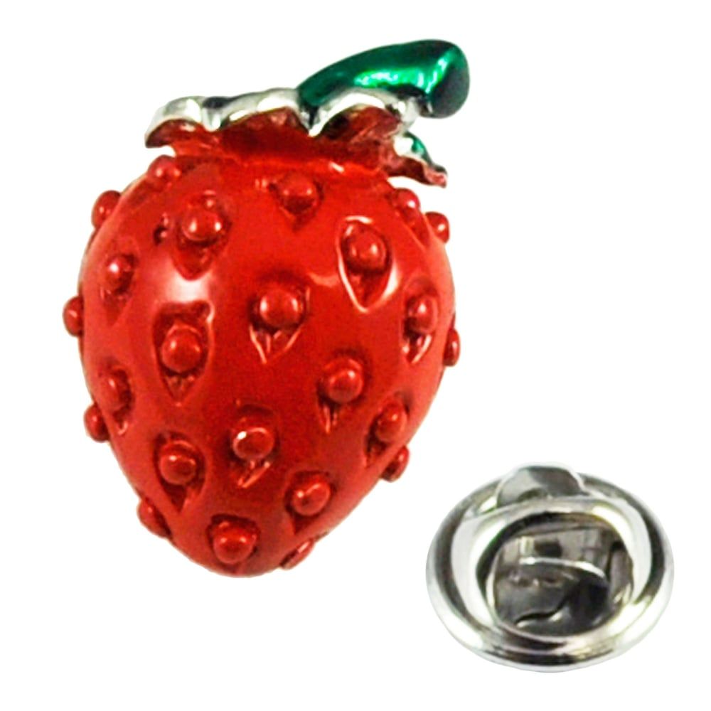 Strawberry Lapel Pin Badge