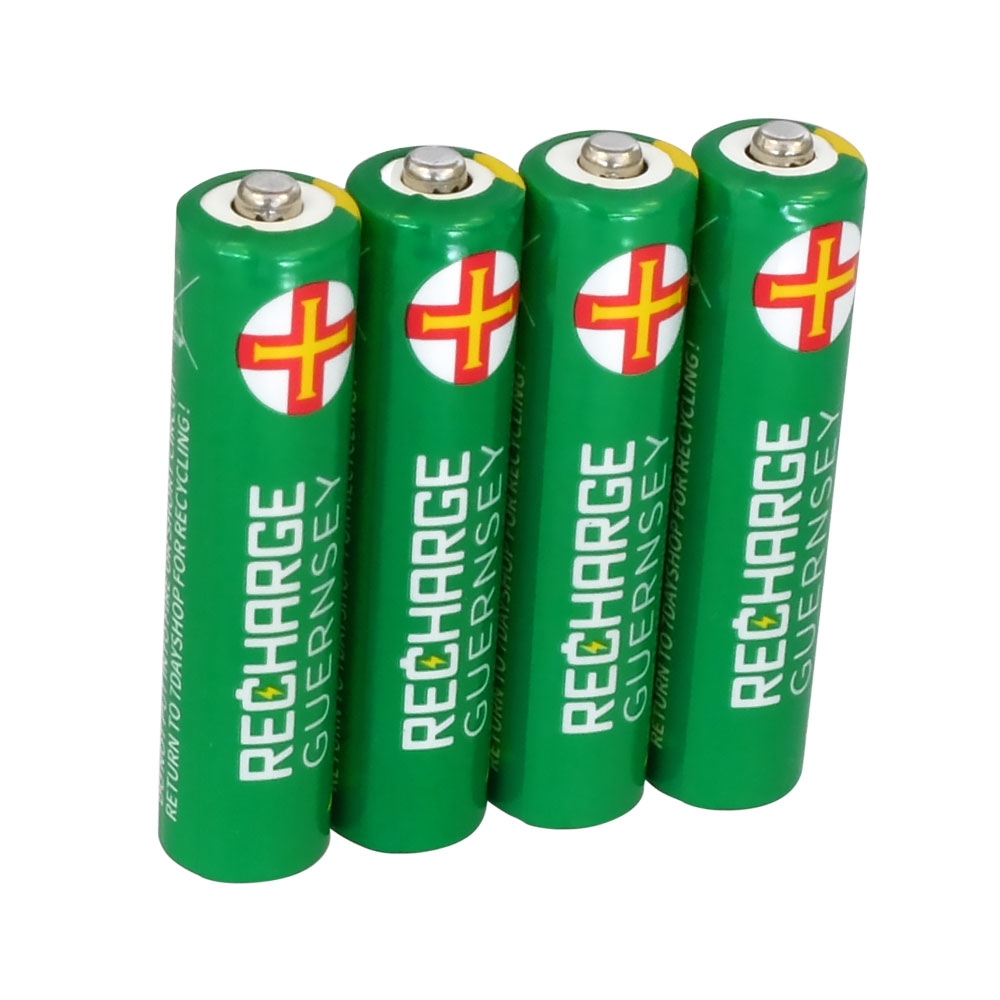 AAA NiMH Rechargeable Batteries - Long Life & Pre-Charged 800mAh Capacity - 4 Pack