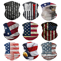 1 Pack American Flag Neck Gaiter Face Cover Scarf Breathable Gator Mask Cooling Bandana Lightinthebox
