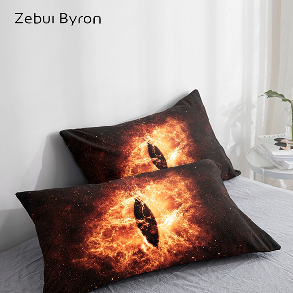 3d hd pillow case pillowcase custom/50x70/50x75/50x80/70x70,decorative pillow cover,evil eye in space bedding drop ship