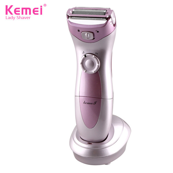 KEMEI Razor Electric Bikini Shaver Epilator Lady Shaving Wet Dry Face Body Underarm Hair Removal Female Razor Trimmer