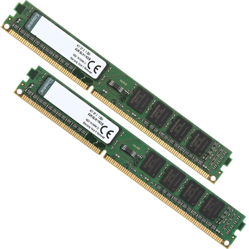 Kingston ValueRAM 8GB (2x4GB) 1600MHz DDR3 Non-ECC 240-Pin CL11 DIMM PC Memory Module