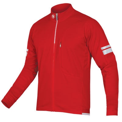 ENDURA Windchill Jacket: Red - S