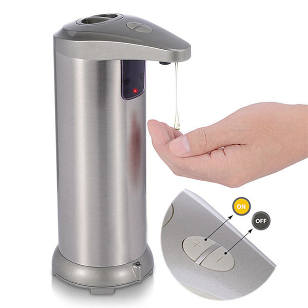 touchless automatic, infrared motion sensor stainless steel dish liquid auto hand soap dispenser for bathroom/kitchen waterproof base