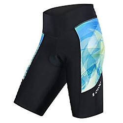 ladies bike shorts with 3d padded compression pants for cycling s blue