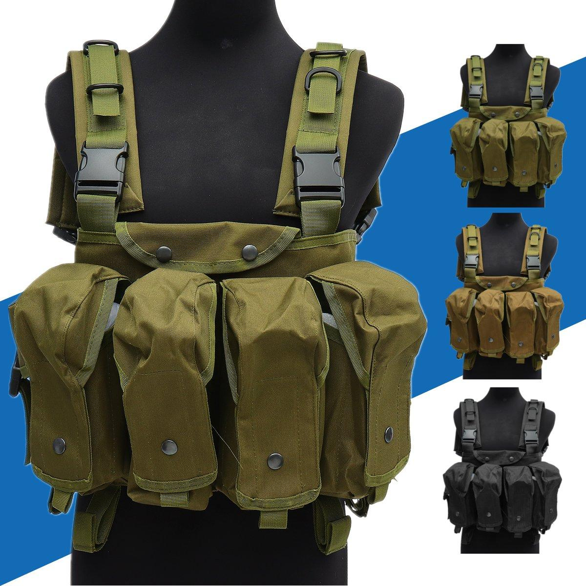 Unisex Tactical Vest Outdoor Combat Game Training Storage Carrier Belly Pocket Vest