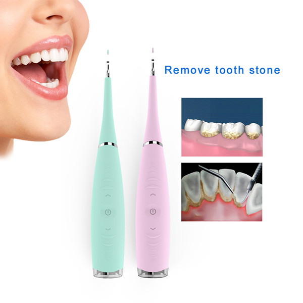 professional 5 modes electric dental scaler sonic silicone tooth cleaner rechargeable usb tooth calculus remover stains tartar j190628