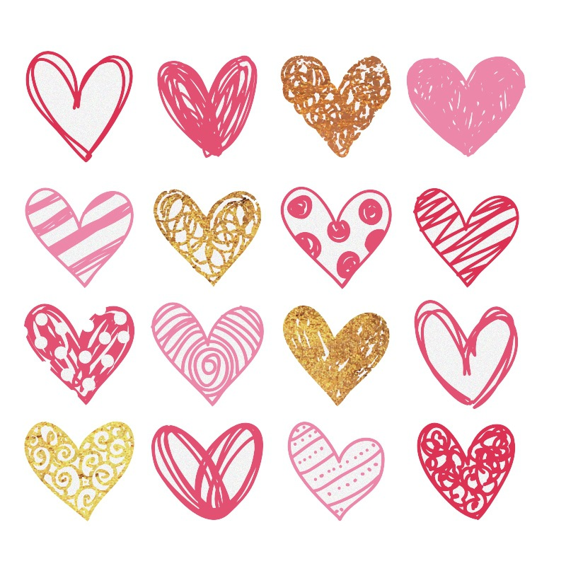 Love Hearts Wall Decor Home Decoration
