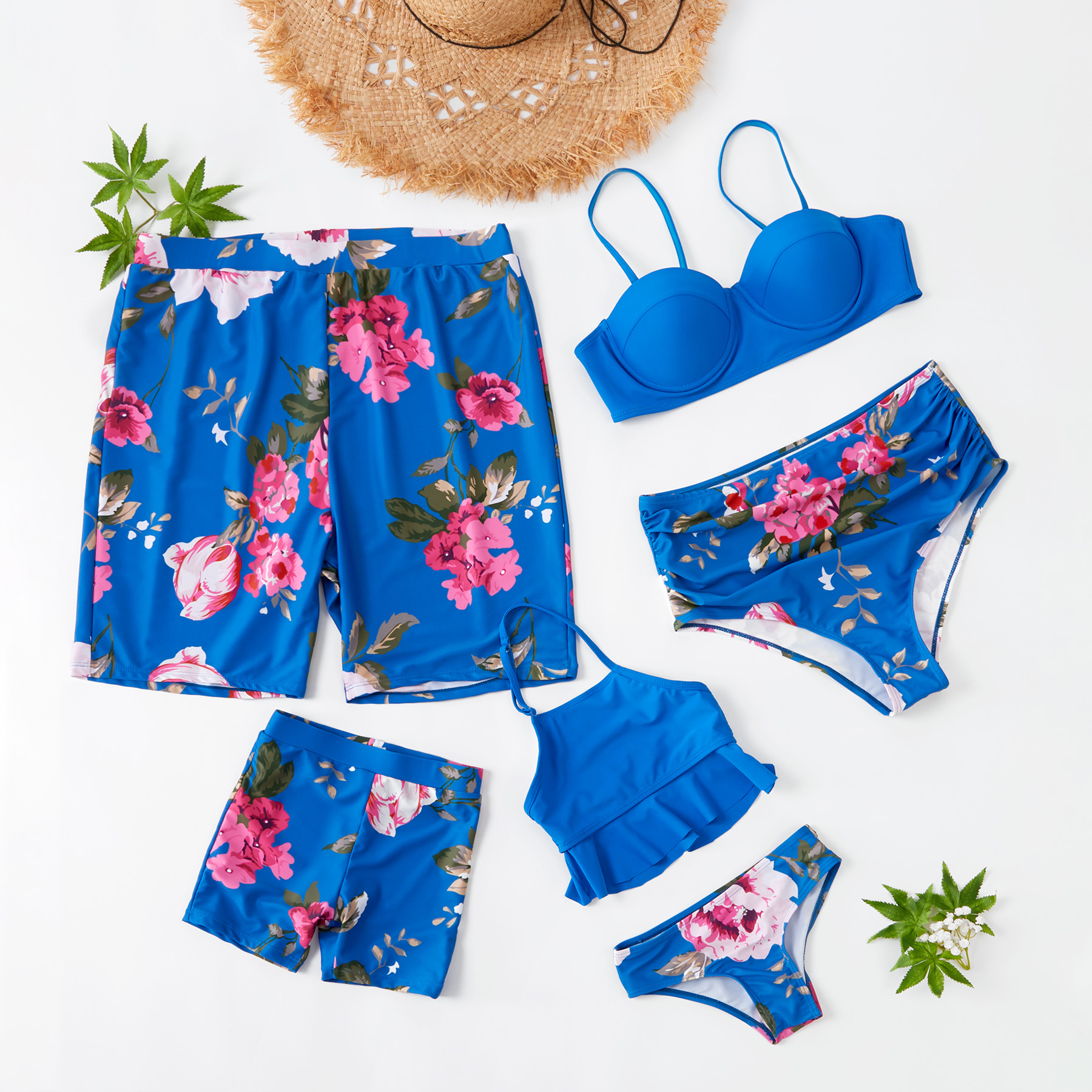 Two-piece Floral Family Matching Swimsuit