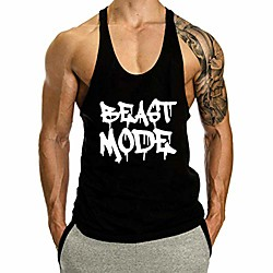 men's workout tank top fitness sports gym tank top-black-l