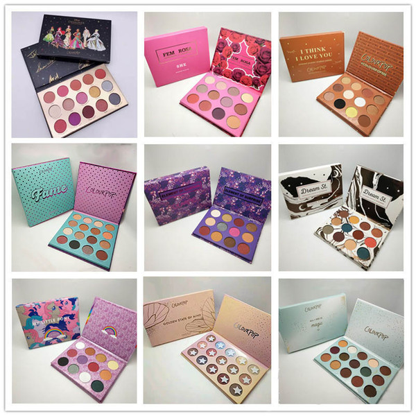 New Colourpop Makeup Palette designer collection 15colors Eyeshadow palette 8 styles DHL shipping