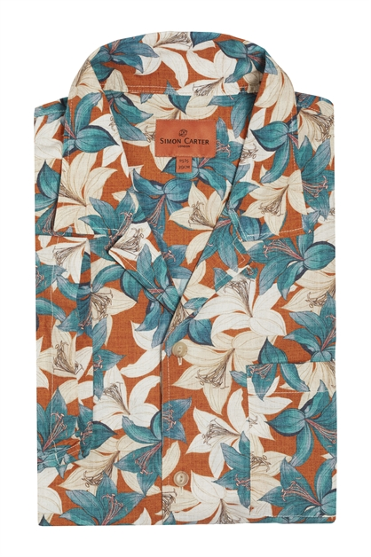 'Aesthetic' Lily Short Sleeved Linen Shirt