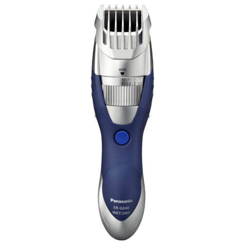 Panasonic ERGB40S Wet/Dry Washable Beard Trimmer - Silver/Blue
