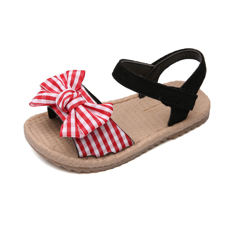 Toddler / Kids Bowknot Grid Sandals