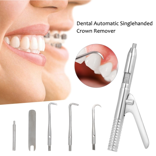 Dental Automatic Singlehanded Crown Remover Set Stainless Steel Dental Surgical Instrument Tools
