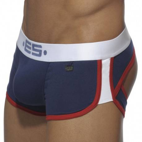 ES Collection Double Side Bottomless Boxer - Navy - White XXL