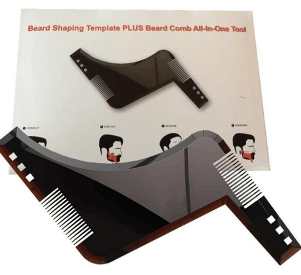 New Comb Beard Bro Shaping Tool Sex Man Gentleman Beard Trim Template Hair Cut Hair Molding Trim Template Beard Modellin b746