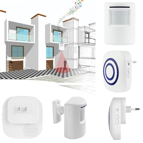 Driveway Patrol Garage Sensor Wireless Alarm Doorbell EU Plug 1 to 1