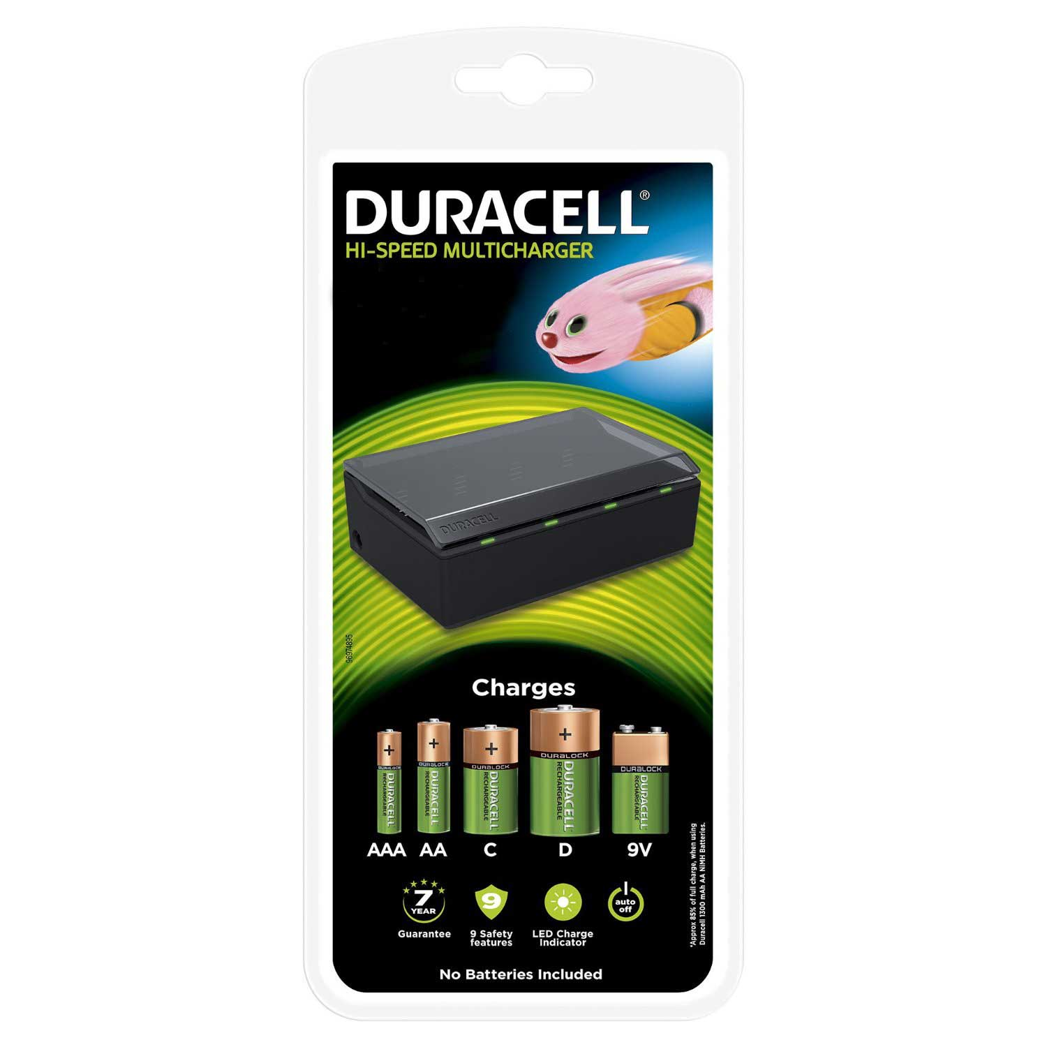 Duracell Universal / Multi Charger for AA, AAA, C, D  and 9V Ni-Mh Batteries