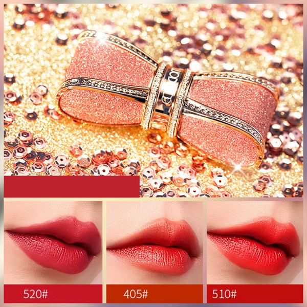 starry butterfly shape lipstick gold sands gold matte lipstick waterproof lasting natural beauty makeup tool r1