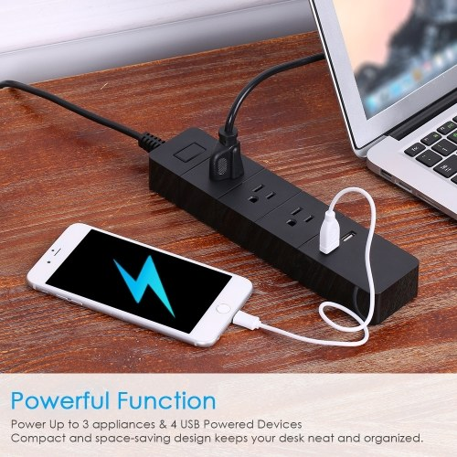 WIFI Smart Power Strip  With 3AC Interface  and 2 USB Ports