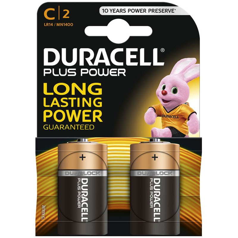 Duracell Plus Power Size C - 2 Pack