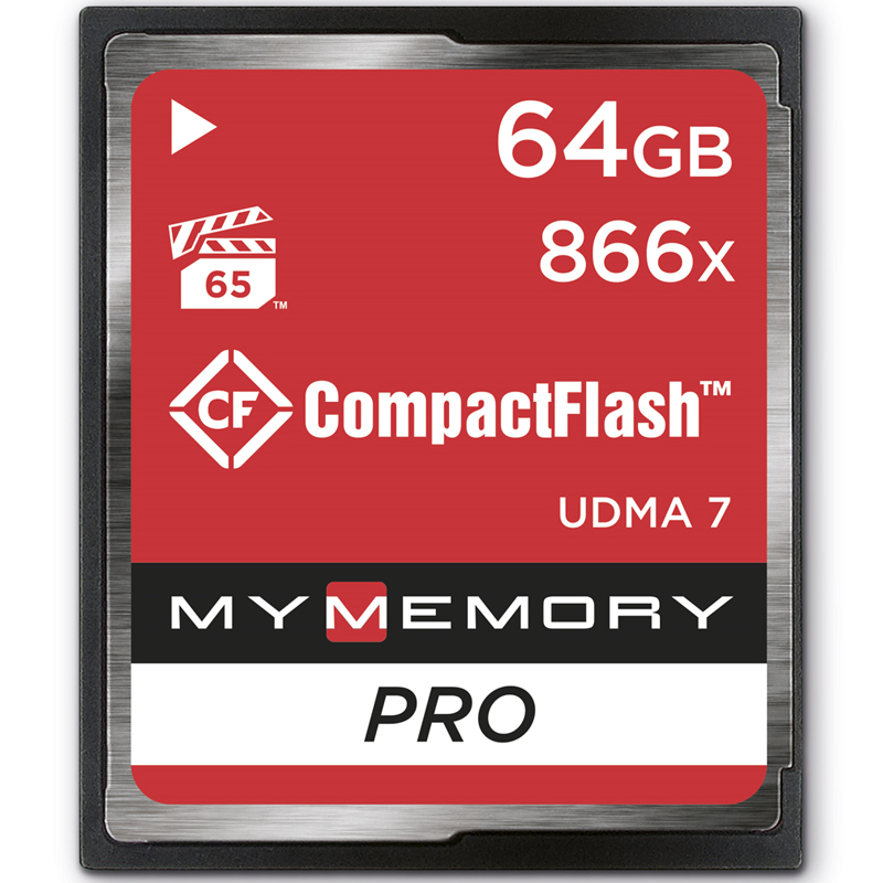 MyMemory 64GB PRO 866X Compact Flash Card - 130MB/s