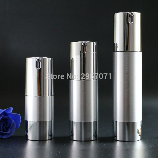 gold silver empty airless pump bottles mini portable vacuum cosmetic lotion treatment travel bottle 10pcs for ing