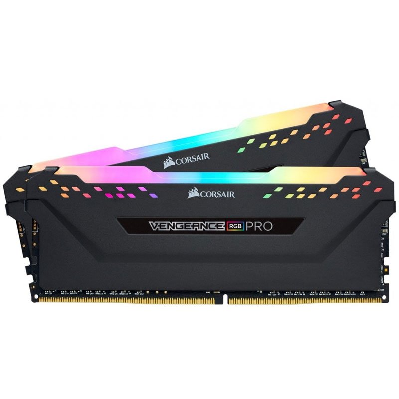 Corsair Vengeance RGB PRO 16GB (2x8GB) 2666MHz DDR4 Non-ECC 288-Pin CL16 DIMM PC Memory Module - Black