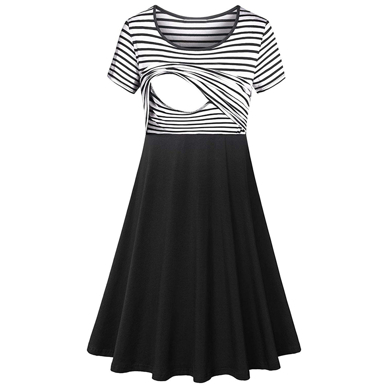 Beautiful Short-sleeve Nursing Dress