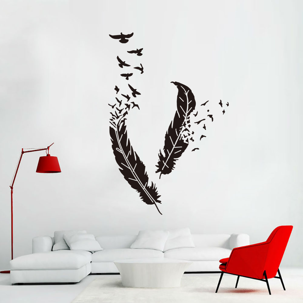 Leather and Bird Sticky Wall Decor