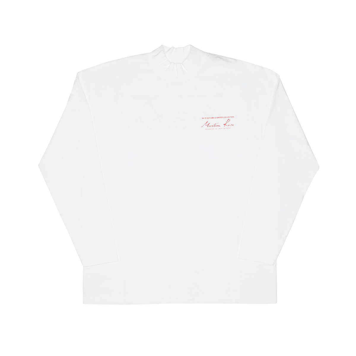 MARTINE ROSE Funnel neck ls tee