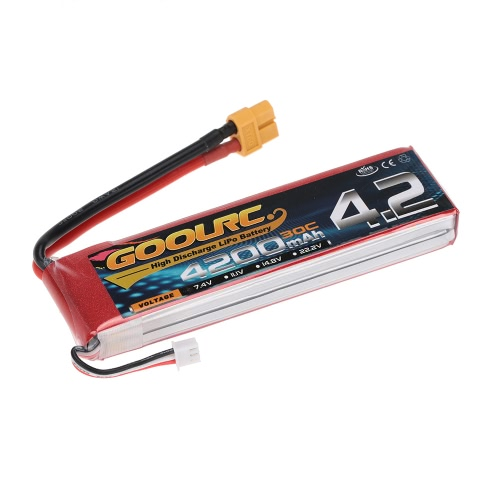 GoolRC 2S 7.4V 4200mAh 30C Li-Po Battery with XT60 Plug for RC Car Boat Truck