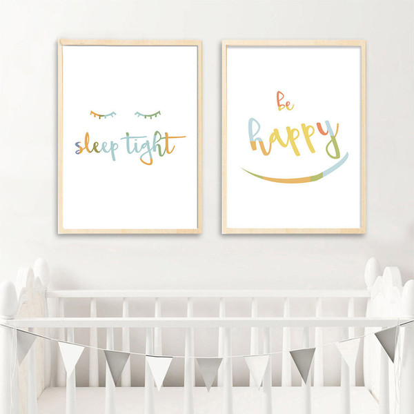 letters art canvas painting simple quotes nursery posters and prints nordic kids decoraton pictures baby bedroom decoration