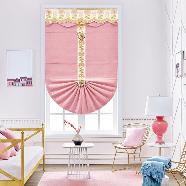 Custom fan-shaped Children's Room Curtain Blinds louver european-style shading lifting curtain office household curtains