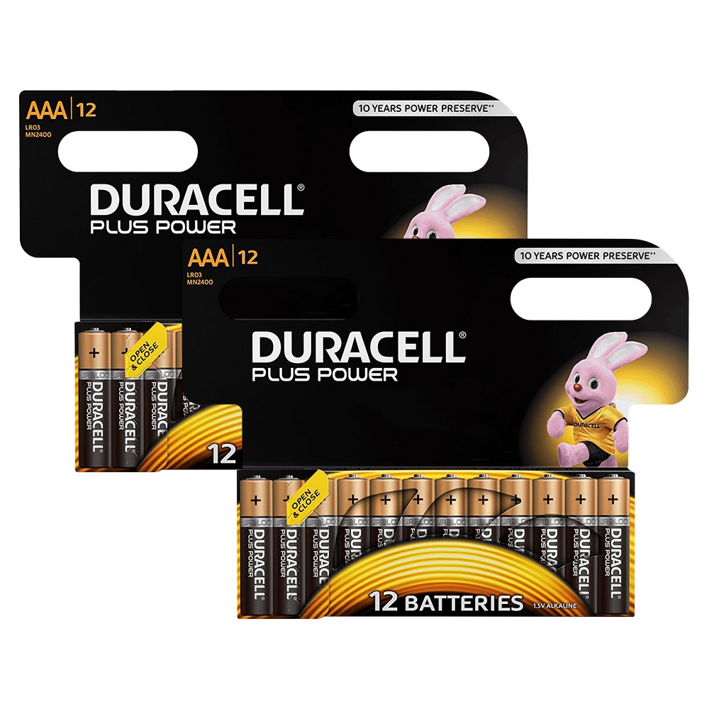 Duracell Plus Power AAA LR03 MN2400 - Extra Value 24 Pack