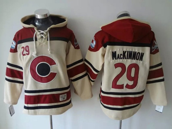 colorado avalanche old time hockey jerseys #29 nathan mackinnon hoodie pullover sports sweatshirts winter jacket