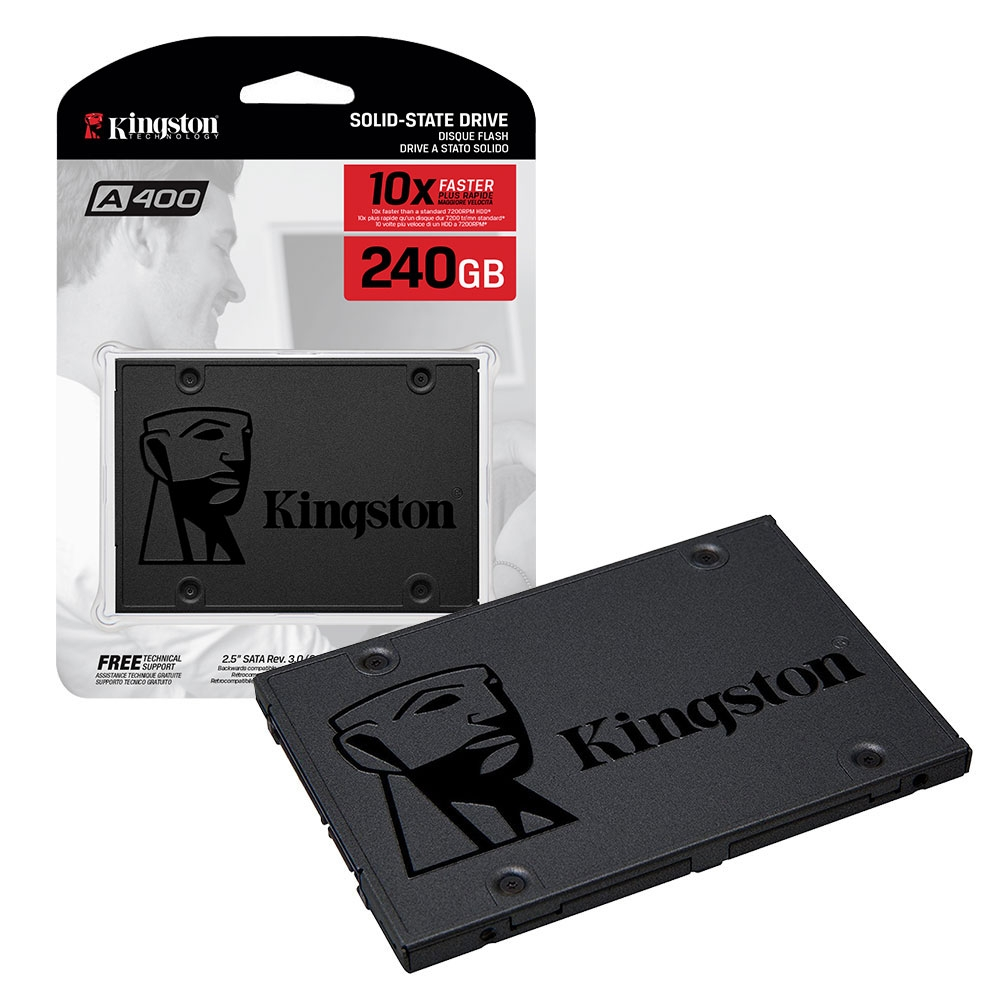 Kingston Technology SA400S37/240G A400 SSD Solid State Drive 2.5 Inch SATA-3 - 240GB