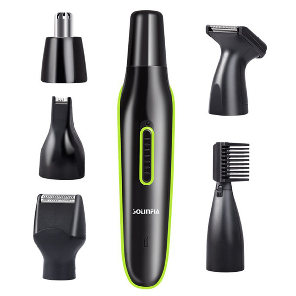 5 in1 Electric Hair Trimmer Beard Trimer Face Eyebrow Stubble Hair Removal Machine Recortadores Haircut Mustache Grooming Set